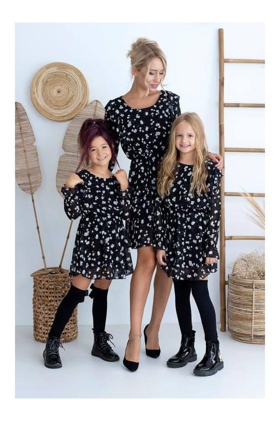 Sukienka damska zestaw Mama i Córka sukienka dla mamy i córki sówka odzież dziecięca i damska