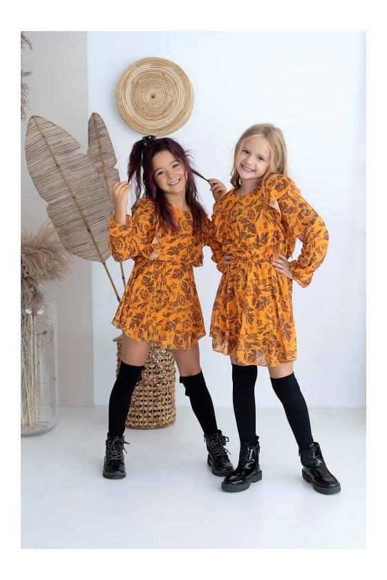 Sukienka dla dziewczynki zestaw Mama i Córka  sówka odzież dziecięca i damska