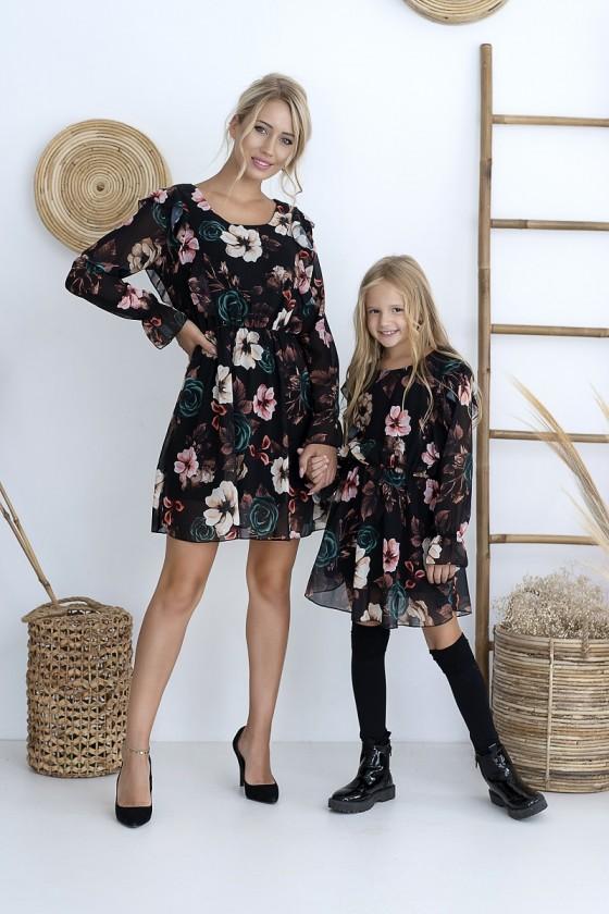 Sukienka dla dziewczynki Rosy zestaw mama i córka