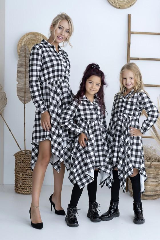 Sukienka damska zestaw mama i córka komplet dla mamy i córki sówka odzież dziecięca i damska