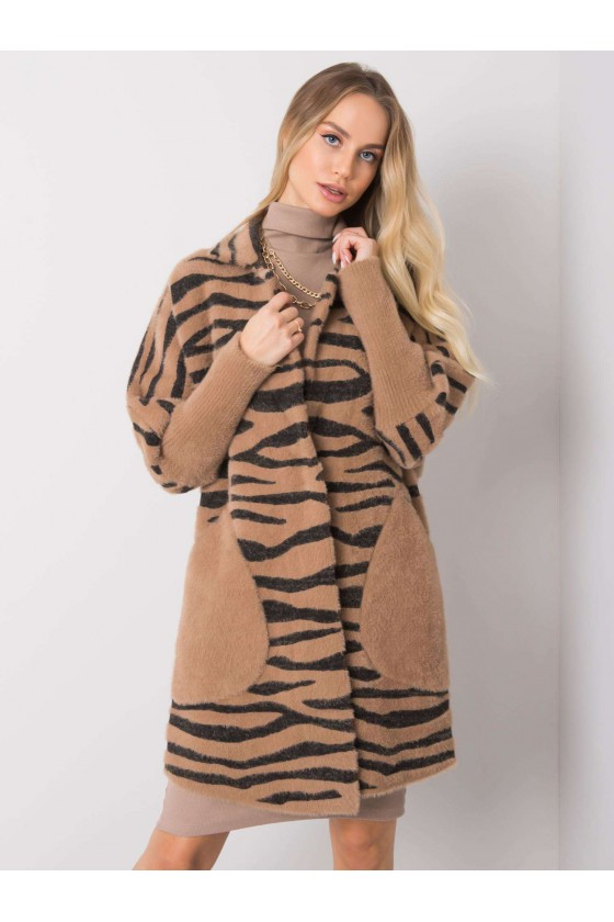 płaszcz damski alpaka jesień jesienny sówka odzież damska