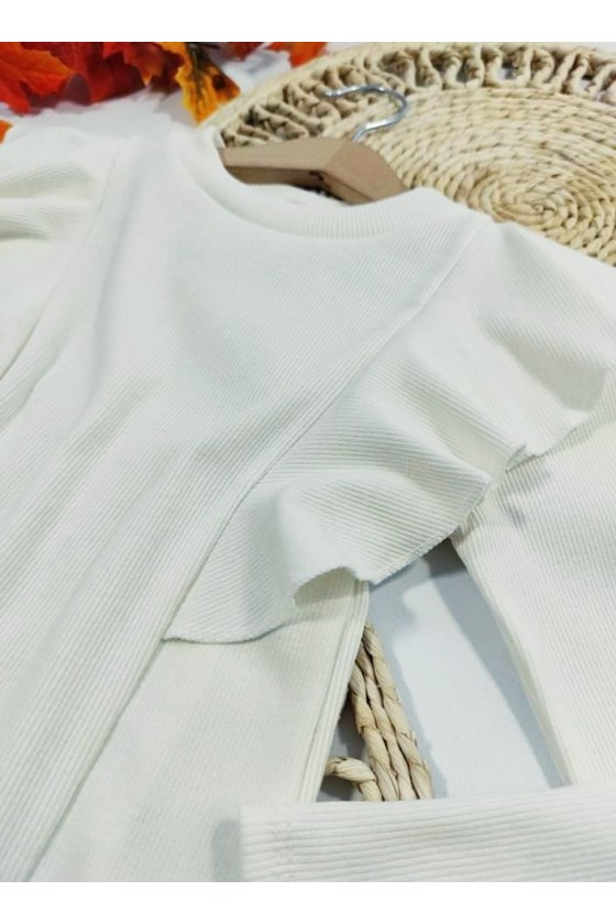 Bluzka bawełniana dla dziewczynki Oli śmietanka