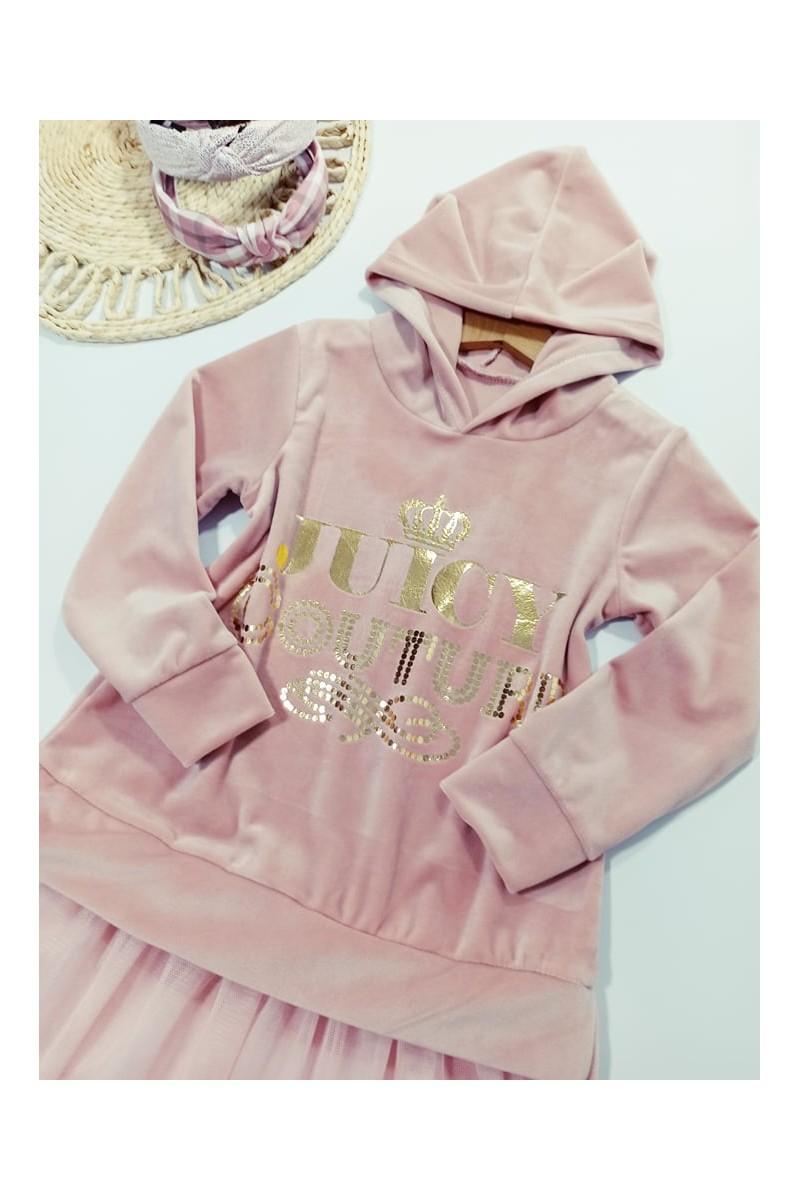 Sukienka welurowa dla dziewczynki odzież dziecięca ubranka dla dziewczynki sówka