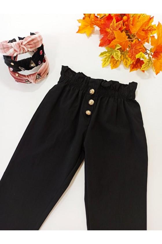 Spodnie dla dziewczynki Tola cygaretki z lycra czarne
