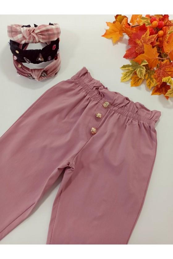 Spodnie dla dziewczynki Tola cygaretki z lycra puderek