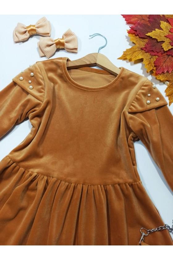 Sukienka dla dziewczynki Lili Camel