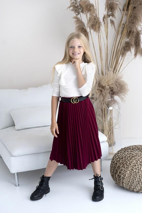 Spódniczka plisowana dla dziewczynki długość midi