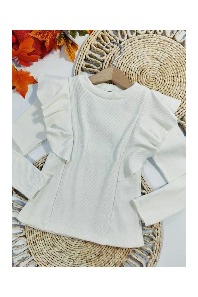 Bluzka bawełniana dla dziewczynki witaj szkoło jesień w sówce odzież dziecięca