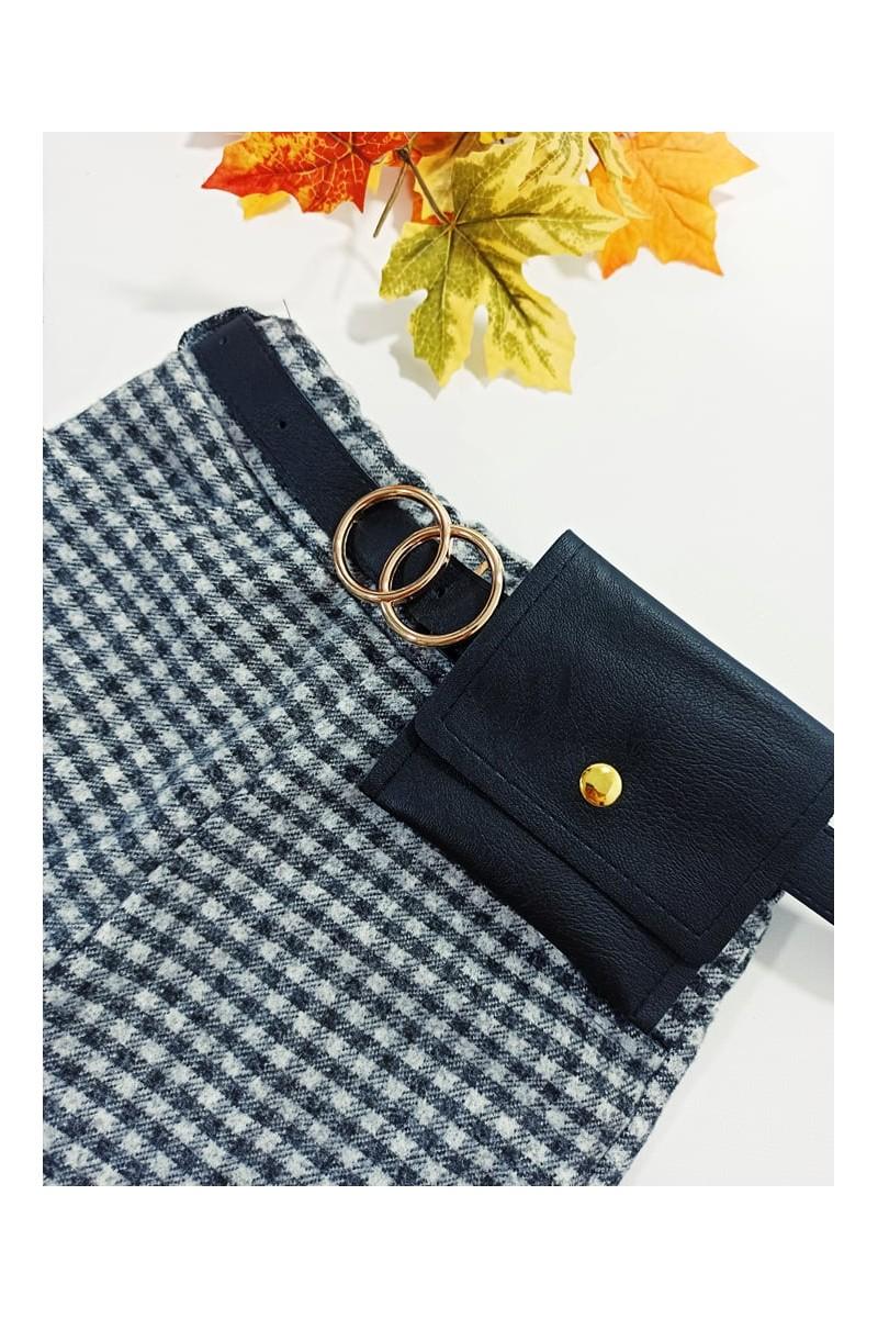 Spodnie pepitka jesień sówka odzież dziecięca