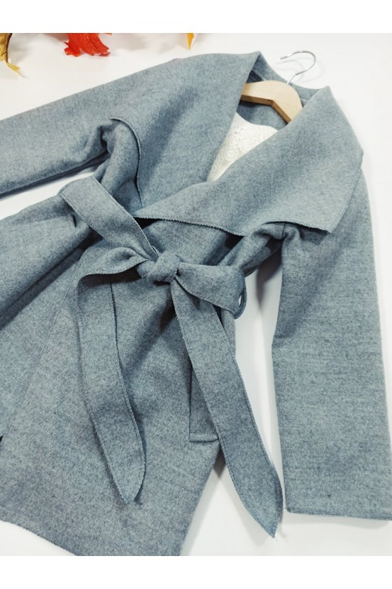 Płaszcz dziewczynka filcowy  jesienny sówka odzież dzięcięca