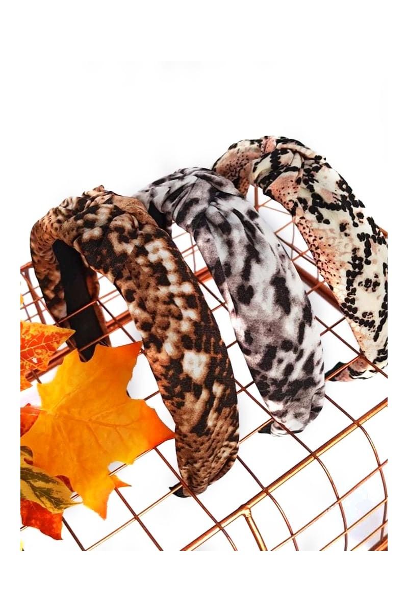 opaska dla dziewczynki turban panterka sówka odzież dziecięca ozdoby do włosów