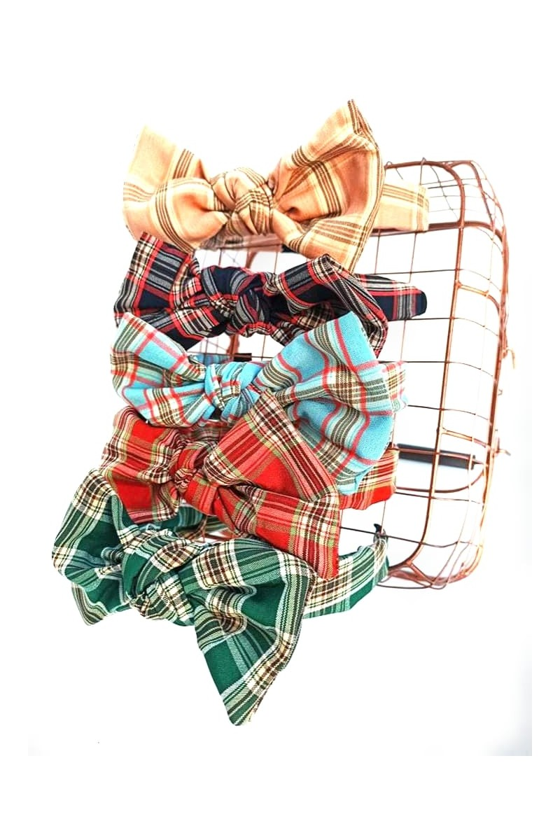 opaska dla dziewczynki kokardka krata  sówka odzież dziecięca ozdoby do włosów