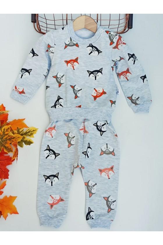 komplet bluza  spodnie liski niemowlę sówka odzież dziecięca jesień zima