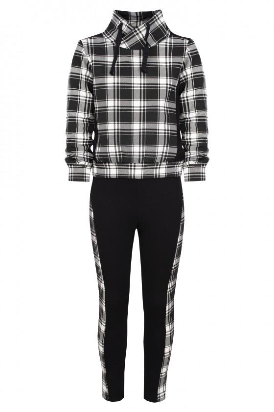 Komplet bawełniany dla dziewczynki bluza i spodnie dres jesień w Sówka