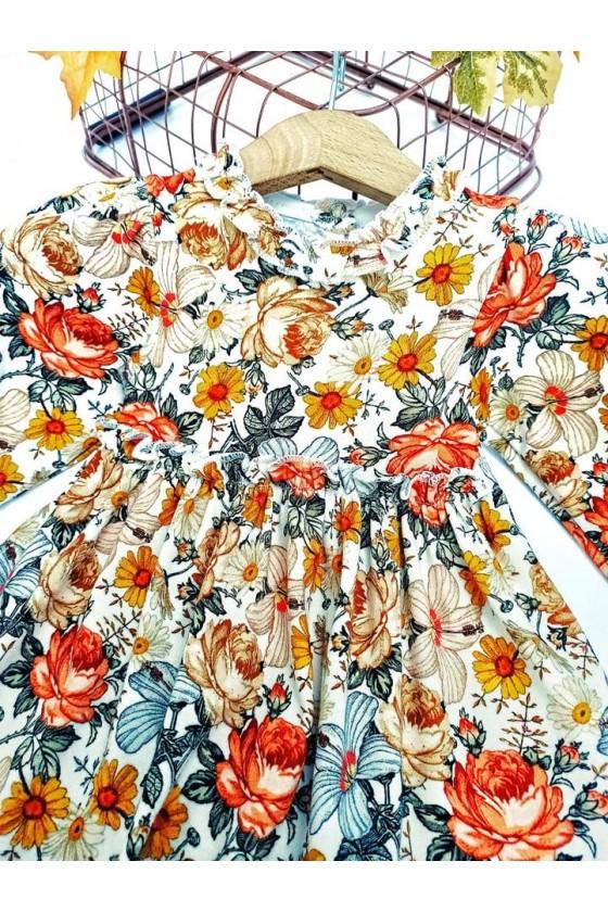 Sukienka niemowlęca dla dziewczynki kwiatki