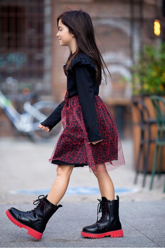 copy of Sukienka Tina panterka bawełna &  welur black