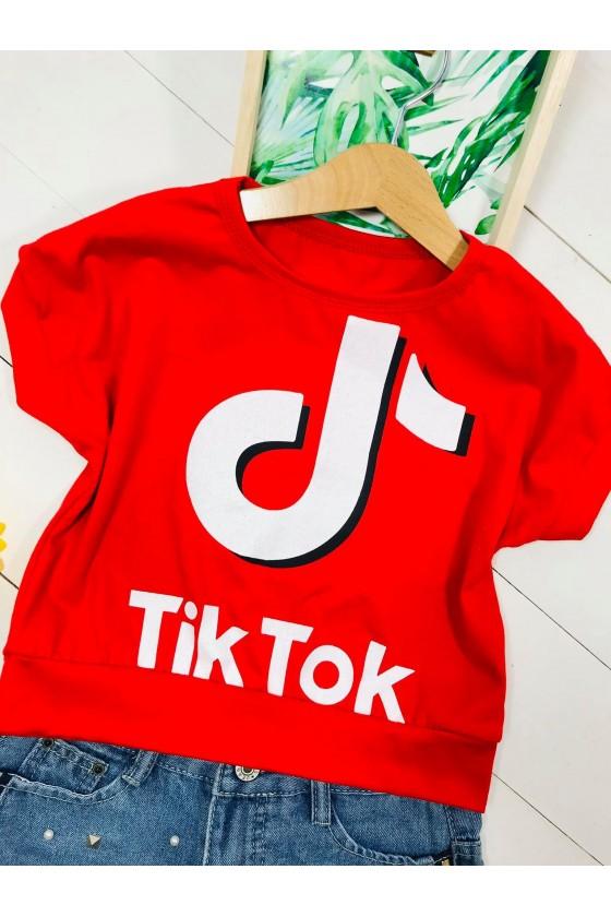 Blouse Tik tok cropp red
