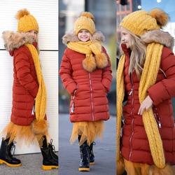 Cieplutkie długie kurtki zimowe w super wyjątkowym kolorze ceglano-rudym👇👇 https://sowkasklep.pl/pl/3-modne-ubrania-dla-dziewczynek